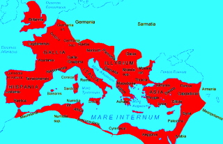 The extent of The Roman Empire.