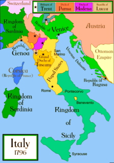 Italy in the 1700's.