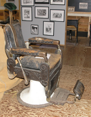 Voctorian barber chair.